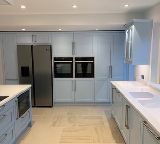 LED Lighting installed as part of full Kitchen Electrics by DBD Electrical, Electricians in Freshford, Bath and surrounding areas